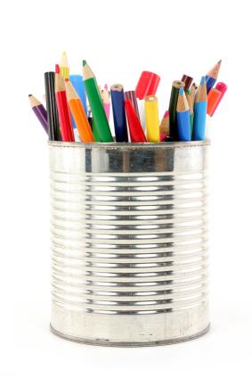 Tin Can Pen Holder