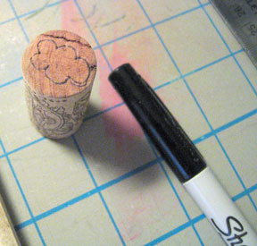 Draw design on your cork