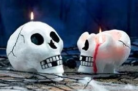 Eco-Friendly Natural Palm Wax Bleeding Skull Candle