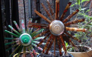 Soda Can Pinwheel Flowers