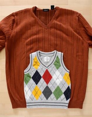 DIY boy's sweater vest 1