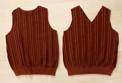 DIY boy's sweater vest 2