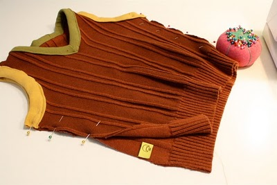 DIY Boy's Sweater Vest 14