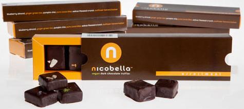 nicobella - vegan organic dark chocolate truffles