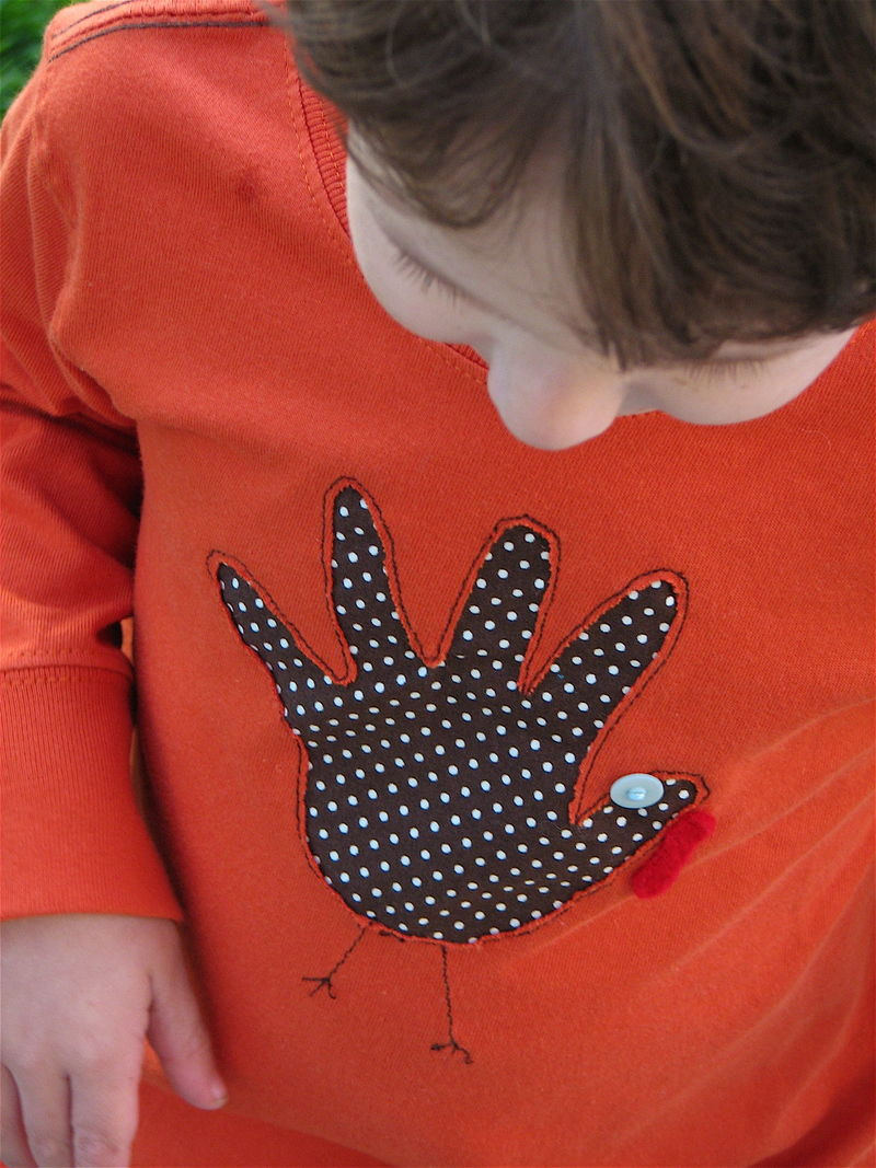 DIY Turkey Hand Print Shirts