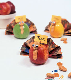 turkey place card holders